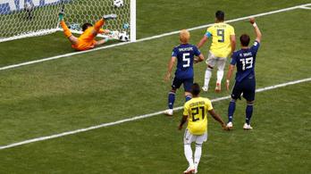 A gólvonal-technológia szerint gól volt, a japánok szerint nem
