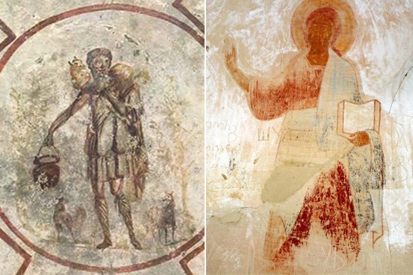 Két másik korai Jézus-ábrázolás.
