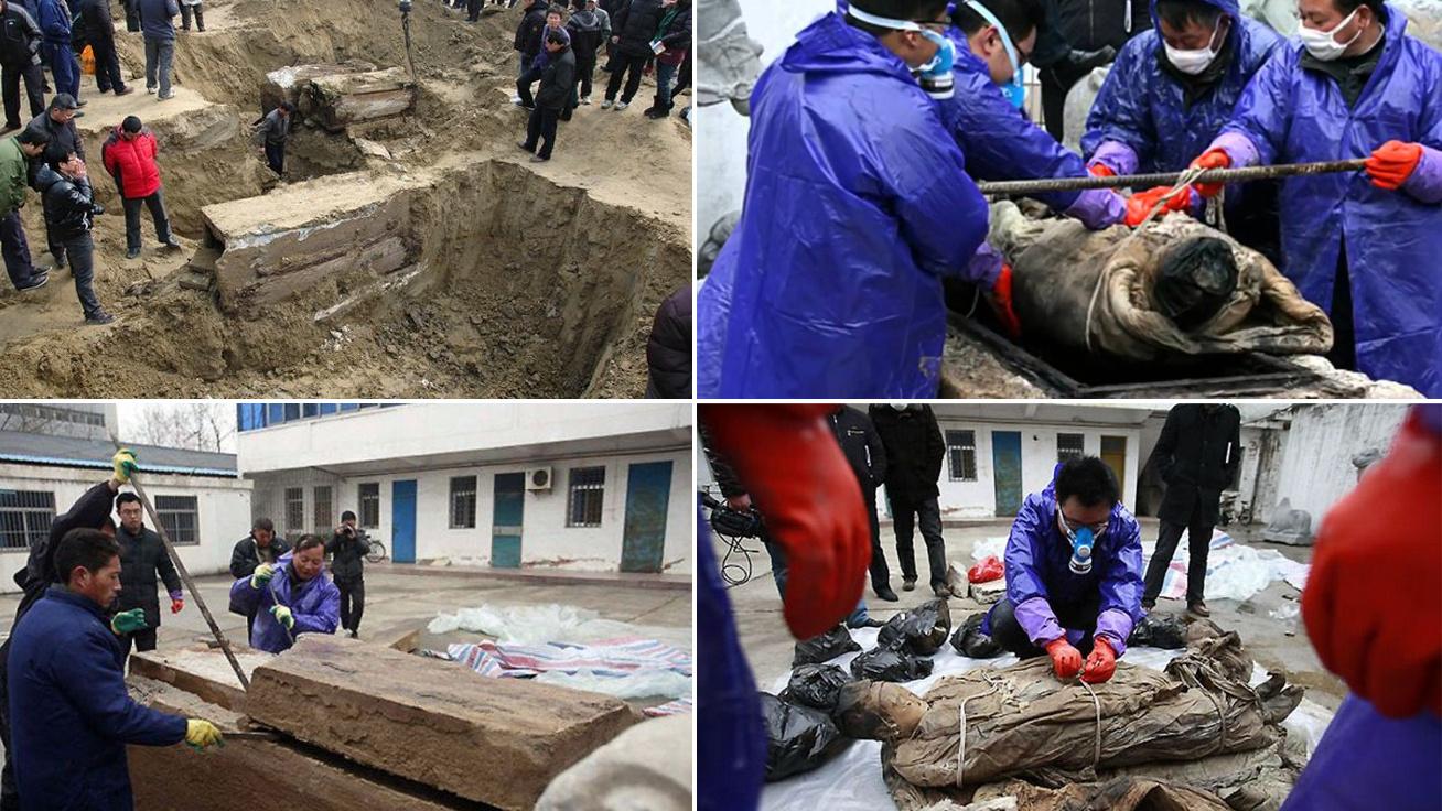 700 éves múmiát találtak az útépítő munkások: hihetetlen állapotban maradt fenn
