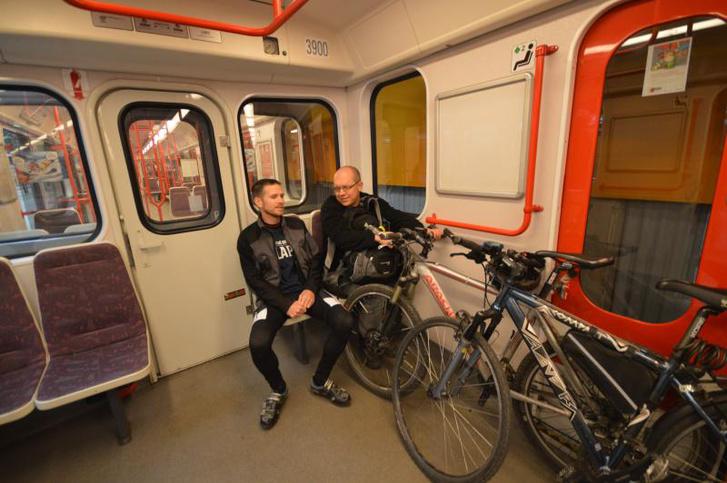 Prágában már lehet bringát vinni a metrón (forrás: praha.eu)