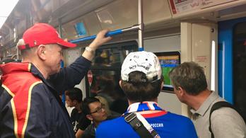 Pár percre megbomlott a rendszer az orosz metróban