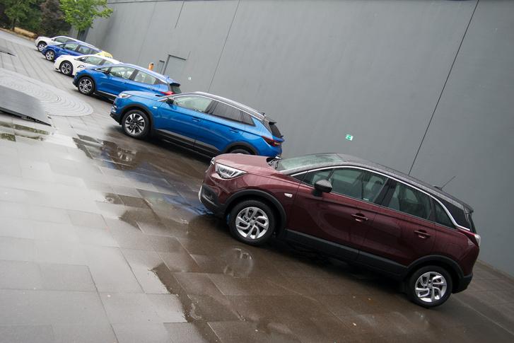 A felsorakozott X-modellek , és távolabb az elektromos és tüzelőanyag-cellás Opelek