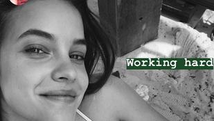 Palvin Barbara bemutatja, hogy milyen az a kemény munka