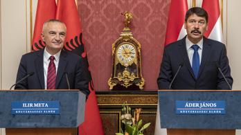 Áder megígérte az albán elnöknek, hogy nem hagyjuk magukra őket