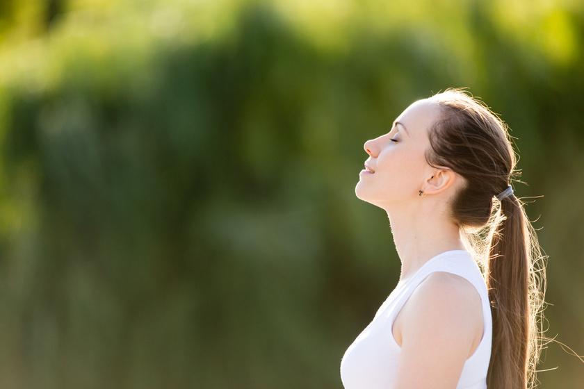 légzés levegő nő lélegzik