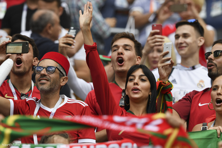 A portugál gólt Christiano Ronaldo szerezte, Georgina Rodriguez pedig legalább ennyire örült neki.