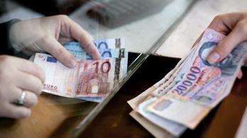 Már 326 forint körül van egy euró
