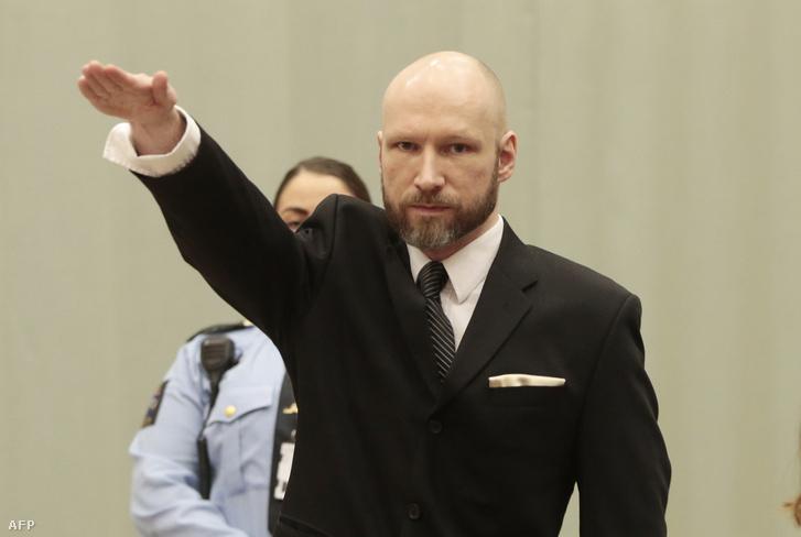 Anders Breivik a bíróság előtt 2017 októberében