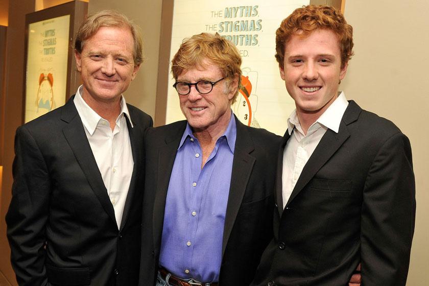 Három generációnyi Redford: James, Robert és Dylan.