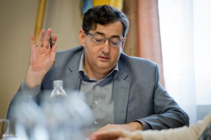 Mészáros Lőrinc 2018 tavaszán, amikor még a falu polgármestere volt