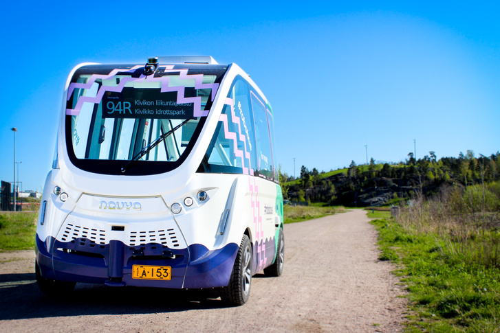 A finn robotbusz - Forrás: RoboBusLine Helsinki