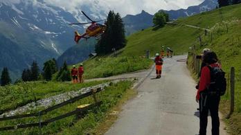 Négyszázan ragadtak a svájci Alpok egyik hegycsúcsán