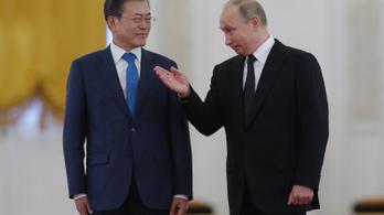 Putyinnak nagy tervei vannak Dél-Koreával