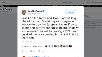 Trump brutális védővámot lengetett be az európai autógyártóknak