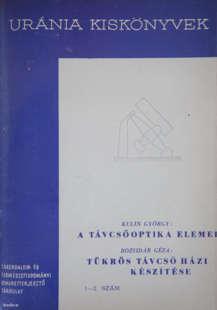 Az Urániát Kulin György csillagász, a magyar amatőrcsillagászat atyja alapította 1947-ben
