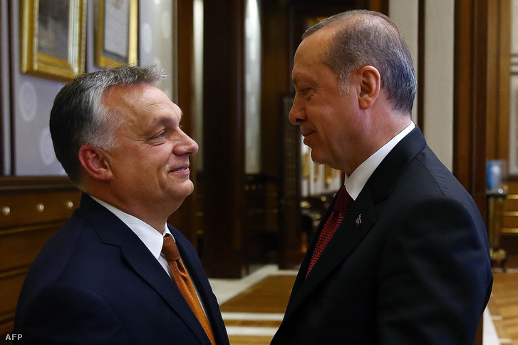 Orbán Viktor és Recep Tayyip Erdohan Ankarában 2017. június 30-án