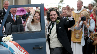 A fél Trónok harca-szereplőgárda ott volt Kit Harington esküvőjén
