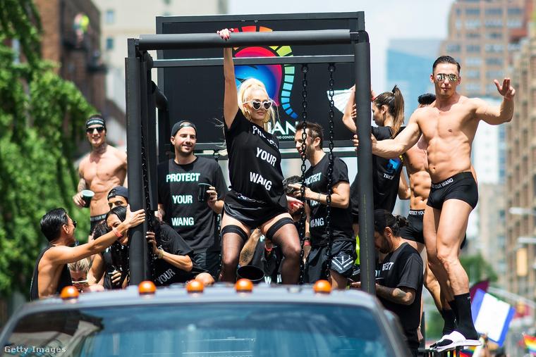 Alexander Wang kamionján ott volt Erika Jayne is, aki az egyik amerikai luxusfeleséges realityvel lett híres, de egyébként énekesnő.