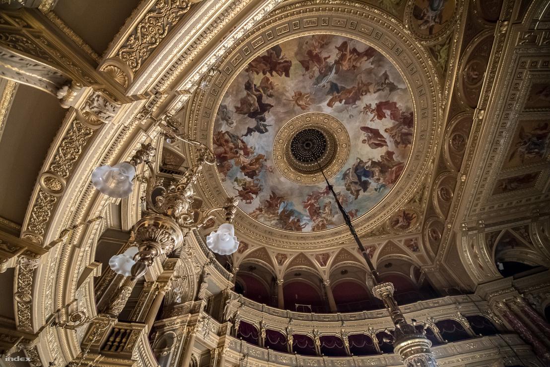 Lotz freskója, A zene apoteózisa jobban érvényesül majd a helyreállított megvilágítással