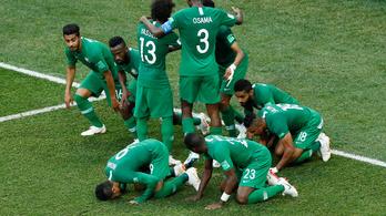 95. perces góllal törte össze az egyiptomi vb-rekordert Szaúd-Arábia