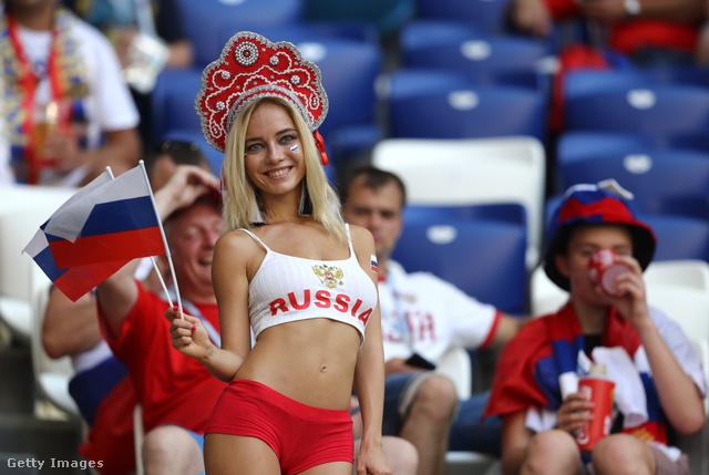 Natalja Nemcsinova az Uruguay-Oroszország meccsen