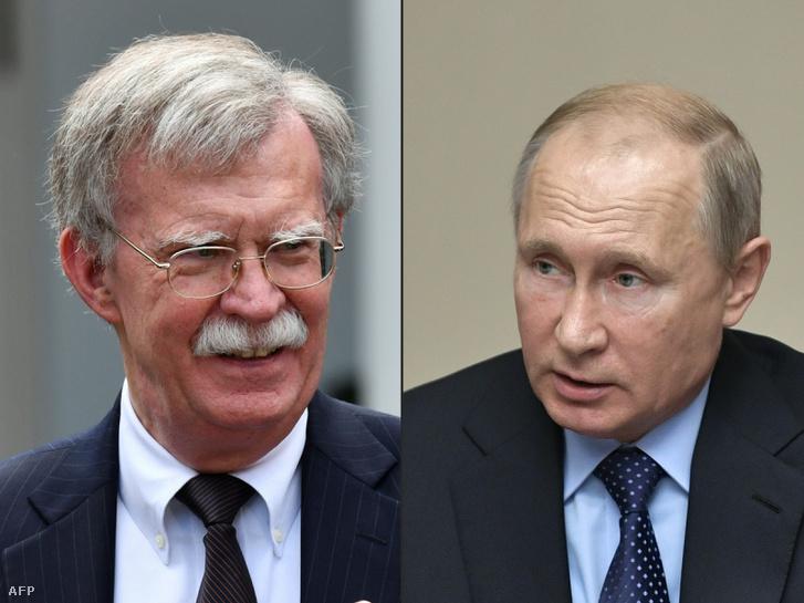 John Bolton és Vlagyimir Putyin