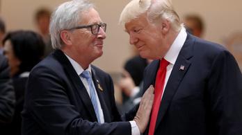 Juncker üzent: elmegy Trumphoz
