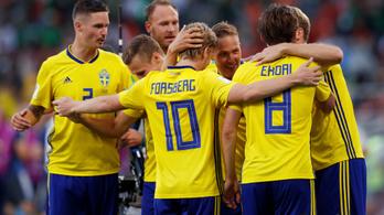 Svédország kiütéssel csoportelső
