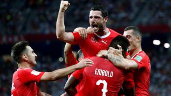 Svájc a továbbjutásnak, Costa Rica az első pontjának örülhet