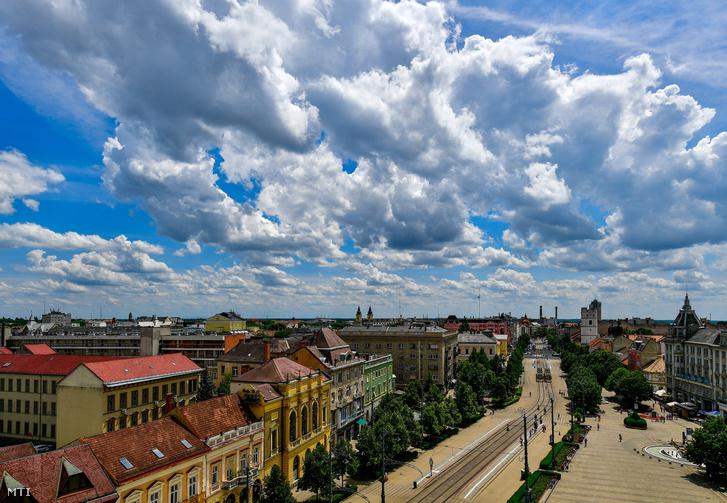 Gomolyfelhők Debrecen felett 2018. június 26-án