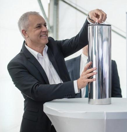 Éry Gábor az Ericsson-ház alapkő-letételén