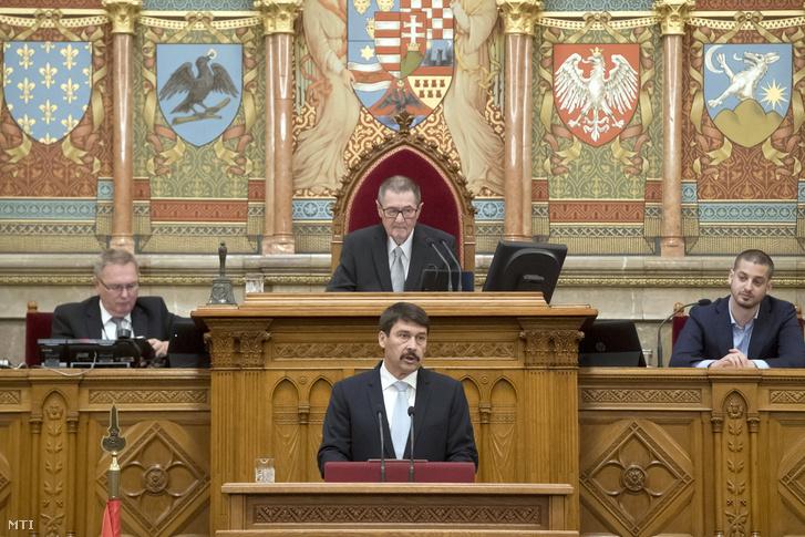 Áder János a Parlamentben 2018. május 8-án