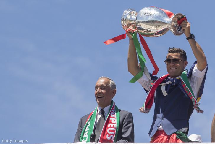 Marcelo Rebelo de Sousa és Ronaldo