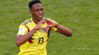 Vezéráldozattal, középhátvédje hátán a nyolcaddöntőben Kolumbia