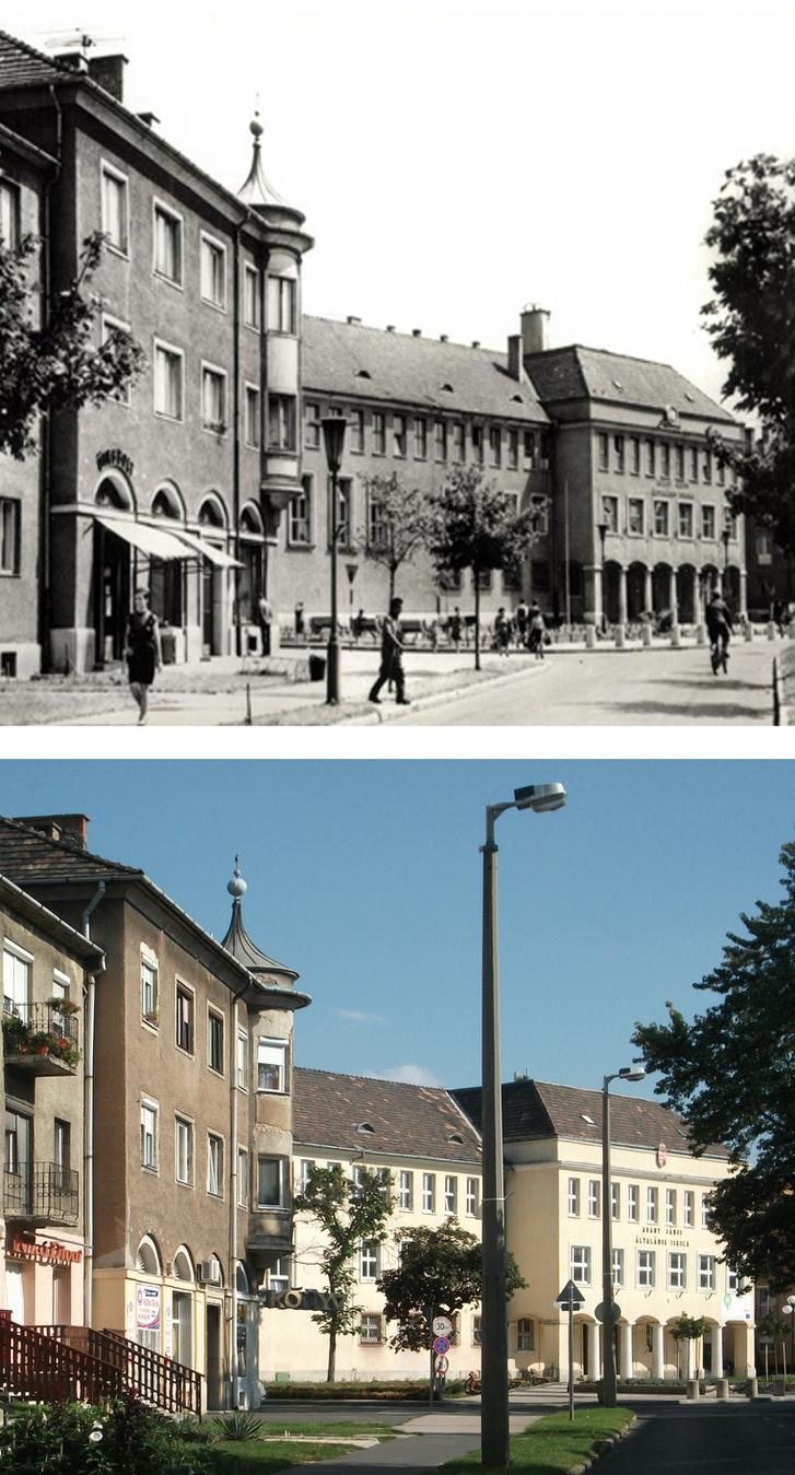 A Fürst Sándor utca kiszélesedésével kialakult bensőséges hangulatú tér. Igen, ma is ez az utca neve