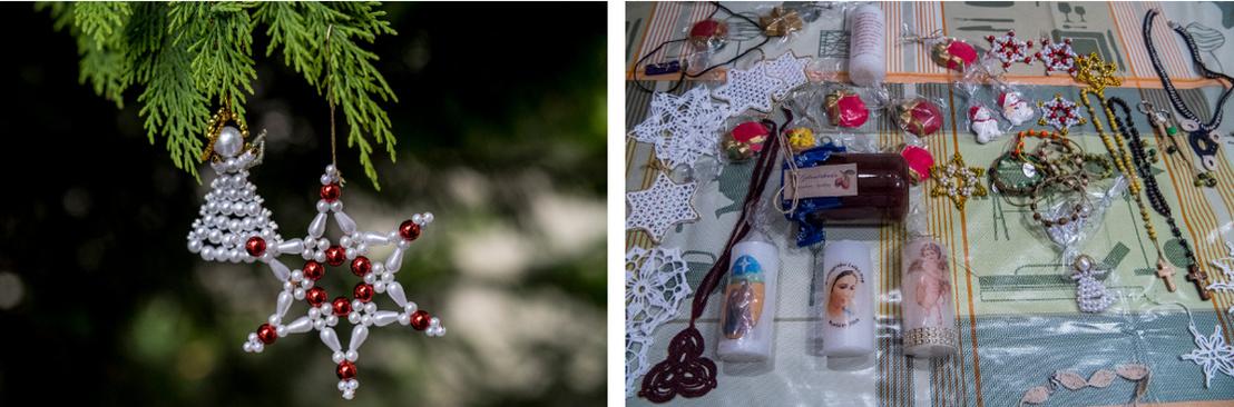 A karácsonyi vásárra készült termékek