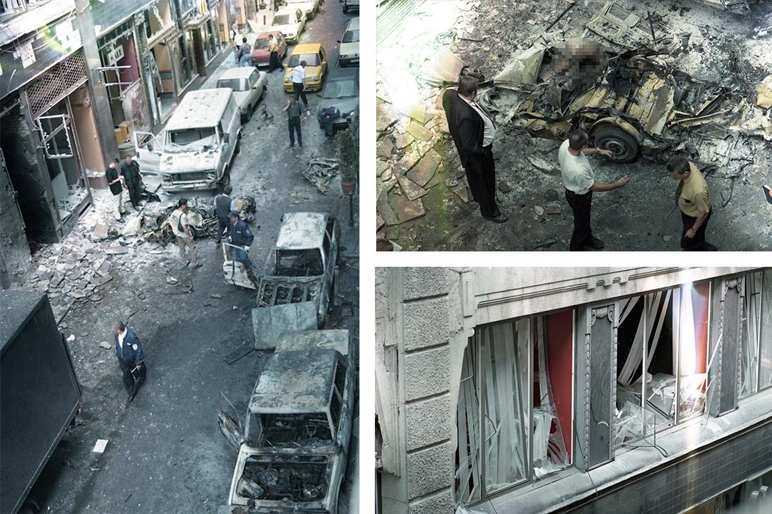 Az Aranykéz utca a robbantás után