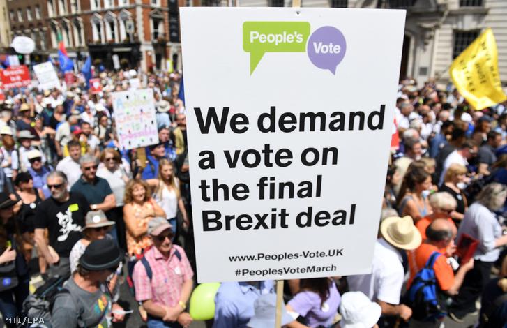 Brexit ellenes tüntetés Londonban 2018. június 23.
