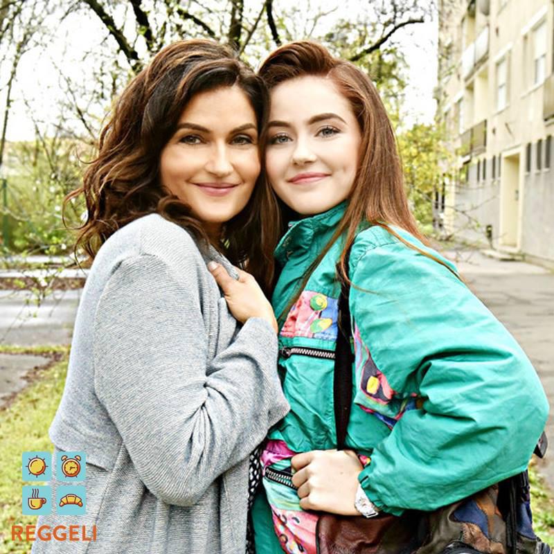 Varga Izabella és nagyobbik lánya, a 17 éves Anna.