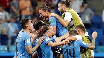 Uruguay leszedte Ronaldót, kiejtette Portugáliát