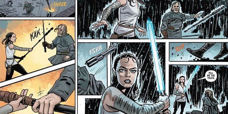 Star-Wars-Last-Jedi-Comic-Luke-Rey-Fight