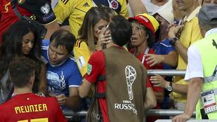 Így ünnepeltek a belga focisták a kedveseikkel a meccs után