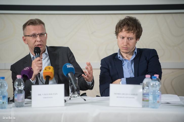 Vági Zoltán történész és Nemes Jeles László