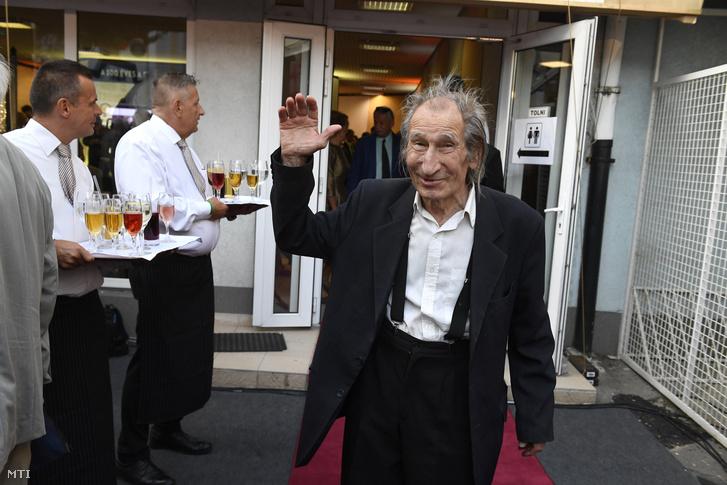 Szilágyi István a százéves Filmgyár jubileumi ünnepségén a Mafilm Róna utcai telepén 2017. szeptember 7-én.