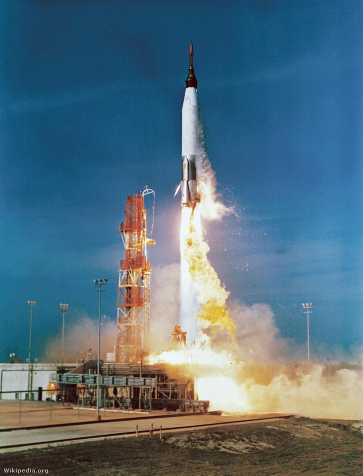 A Mercury-Atlas 2 felbocsájtása 1961 februárjában