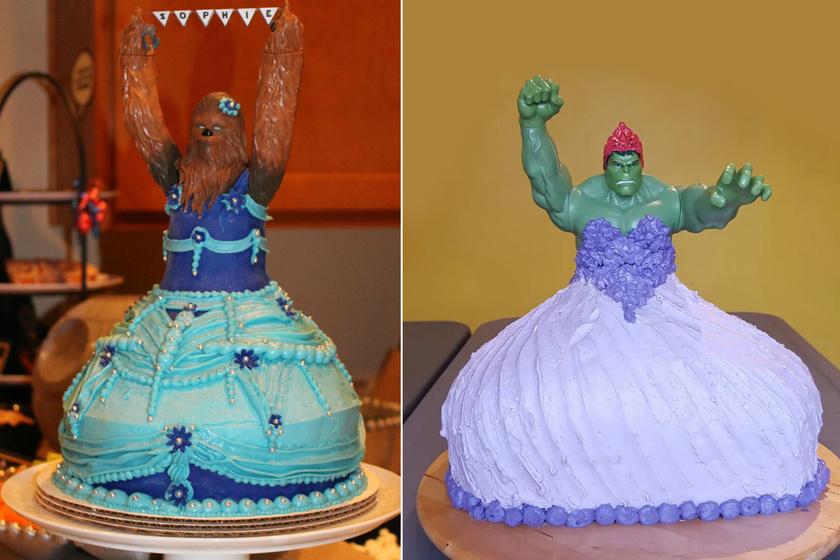 Hulk és Chewbacca, mint hercegnők? Ha gyerektortáról van szó, nincs lehetetlen