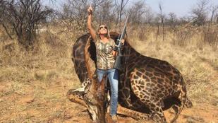 Agyonlőtt zsiráffal pózolt, gyűlölik a netezők. Lehet, hogy nincs igazuk