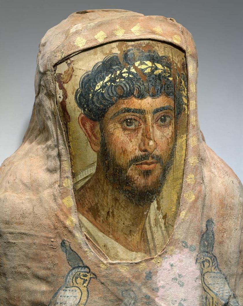 A múmiaportrék a kopt időkből valók, az 1-3. századból.