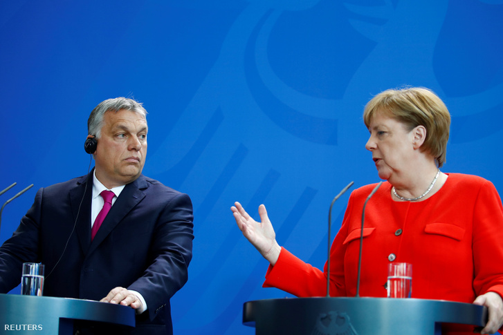 Orbán Viktor és Angela Merkel