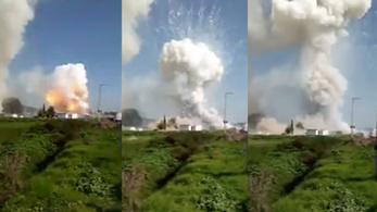 Felrobbant egy tűzijátékgyár Mexikóban, 24 halott